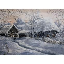 """Картина """"Зимний Двор"""" – 50 х 70 см, 2013 г."""