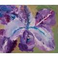 """Картина """"Ирис"""", масло, холст и картон, 50x60 см"""