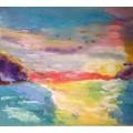 """Картина """"Ласковое море""""  - 90х80 см, 2017 год"""
