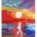 """Картина """"Рыбаки""""  - 80х90 см, 2017 год"""