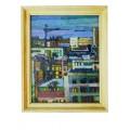 """Картина """"Вечер. Современный Киев"""", 1993, масло, холст, 50x40 см"""