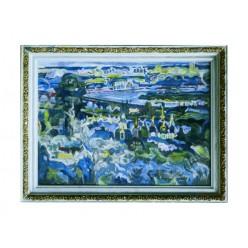 """Картина """"Выдубичи. Синий вечер"""", 2004-2005, масло, холст, 50x70 см"""