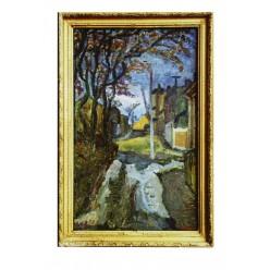 "Картина ""Кияновский переулок"", масло, картон, 80x50 см"