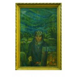 """Картина """"В Карпатах летом за этюдом"""", 1987, масло, картон, 80x50 см"""