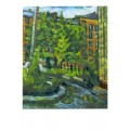 "Картина ""Вечером после дождя"", 1997, масло,картон, 60x50 см"