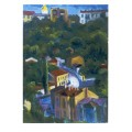 "Картина ""Гончарка в летний вечер"", 1980, масло, картон, 70x50 см"