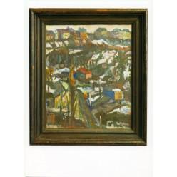 "Картина ""Гончарка ранней весной"", 1985, масло, холст, 60x50 см"