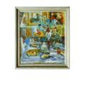 "Картина ""Гости ушли"", 1989, масло, холст, 70x60 см"