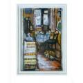 "Картина ""Интерьер с котом"", 1980, масло, холст и картон, 70x50 см"