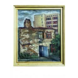 """Картина  """"Каменный домик в Седневе"""" 1991 год, выполнена маслом на холсте и картоне - 35 x 50 см"""