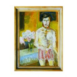 """Картина """"Летний автопортрет"""", 1988, масло, холст и картон, 70x50 см"""