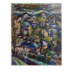 """Картина """"Майский вечер в Седневе"""", 1985-1986, масло, холст, 80x65 см"""