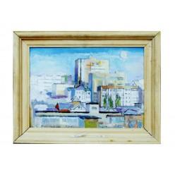 "Картина ""Месяц и солнце"", 1993, масло, холст и картон, 35x50 см"