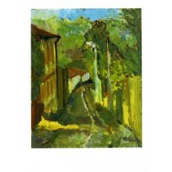 """Картина """"Музыкальный вечер. Улица Петровская"""", 1978, масло, картон, 50x40 см"""