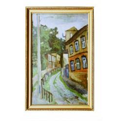 """Картина """"Осенний вечер. Улица Петровская"""", 1981, масло, картон, 80x50 см"""