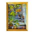 "Картина ""Осенний мотив"", 1997, масло, холст и картон, 70x50 см"