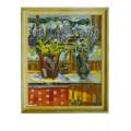 "Картина ""Последние лучи солнца"" 1997 год, выполнена маслом на холсте - 80 x 65 см"