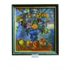 """Картина """"Радостный натюрморт"""" 1978 год, выполнена маслом на холсте - 50 x 50 см"""