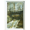 """Картина """"Старый Киев. Пейзаж с мостом"""" 1981 год, выполнена маслом на картоне - 60 x 50 см"""