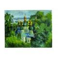 """Картина """"Церковь в Выдубичах"""" 1996 год, выполнена маслом на картоне - 40 x 50 см"""