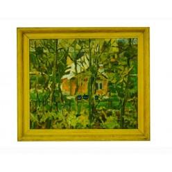 """Картина """"Седнев. Утренний мотив"""" 1991 год, выполнена маслом на холсте - 50 x 60 см"""