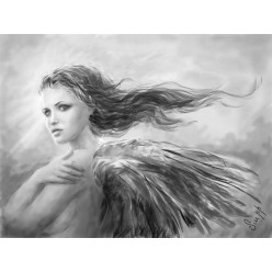 """Картина в компьютерной графике """"Ангел"""" - 21 x 28 см"""