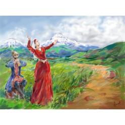 """Картина в компьютерной графике """"Армения"""" - 21 x 28 см"""