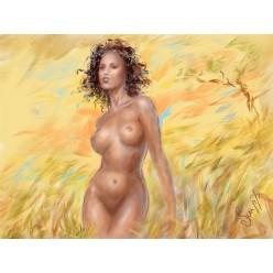 """Картина в компьютерной графике """"Африканские мотивы"""" - 21 x 28 см"""