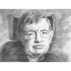 """Картина в компьютерной графике """"Вселенная Стивена Хокинга"""" - 21 x 28 см"""