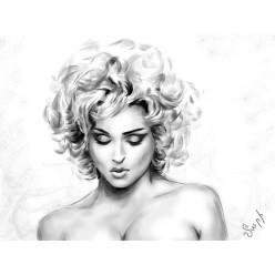 """Картина в компьютерной графике """"Мадонна"""" - 21 x 28 см"""