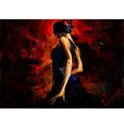 "Картина в компьютерной графике ""Фламенко"" - 21 x 28 см"