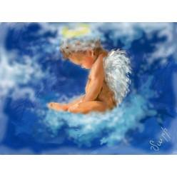 """Картина в компьютерной графике """"Чудо небес"""" - 21 x 28 см"""