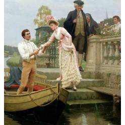 """Репродукция картины Эдмунда Блэра Лейтона """"Вложите свою руку в мою и доверьтесь мне"""" (фрагмент) (EBL-1208)"""