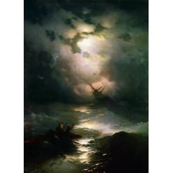 """Репродукция картины И. К. Айвазовского """"Буря на Северном море"""" 1865 год (IKA-0208)"""