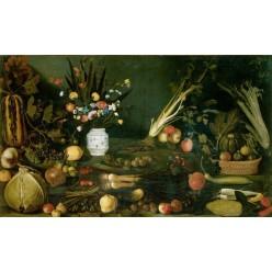 """Репродукция картины Караваджо """"Натюрморт с цветами, овощами и фруктами"""" (MDK-1114)"""