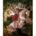 """Репродукция картины Карла Брюллова """"Девушка, собирающая виноград в окрестностях Неаполя"""". 1827 год (KBR-0609)"""
