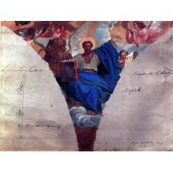 "Репродукция картины Карла Брюллова ""Евангелист Марк"". 1843-1847 годы (KBR-0617)"