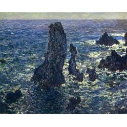 """Репродукция картины Клода Моне """"Cliffs at Belle-Ile"""" 1881 (CMN-4146)"""