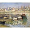 """Репродукция картины Клода Моне """"The Seine at Asnieres 02"""" 1873 (CMN-4149)"""