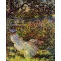 "Репродукция картины Клода Моне ""Alice Hoschede in the Garden"" 1881 год (CMN-4162)"