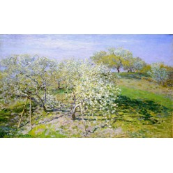 """Репродукция картины Клода Моне """"Apple Trees in Bloom"""" 1873 год (CMN-4161)"""