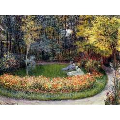 "Репродукция картины Клода Моне ""In the Garden"" 1875 год (CMN-4158)"