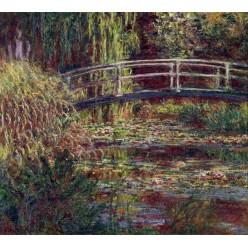"Репродукция картины Клода Моне ""The Japanese Bridge (The Water-Lily Pond, Symphony in Rose)"" 1900 год (CMN-4159)"