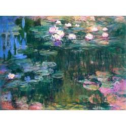 """Репродукция картины Клода Моне """"Water Lilies"""" 1914-17 годы (CMN-4160)"""