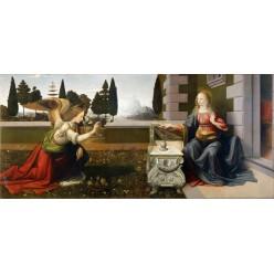 """Репродукция картины Леонардо да Винчи """"Благовещение"""" (LDV-6669)"""