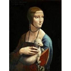 "Репродукция картины Леонардо да Винчи ""Дама с горностаем"" (LDV-6659)"