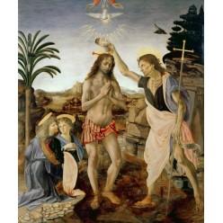 """Репродукция картины Леонардо да Винчи """"Крещение Христа"""" (LDV-6661)"""