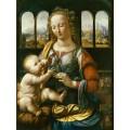 """Репродукция картины Леонардо да Винчи """"Мадонна с гвоздикой"""" (LDV-6667)"""