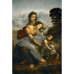 "Репродукция картины Леонардо да Винчи ""Мадонна с Младенцем и святой Анной"" (LDV-6666)"