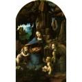 "Репродукция картины Леонардо да Винчи ""Мадонна в скалах"" (LDV-6665)"